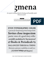 Agmena Font Specimens