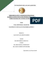 Implementación y Análisis de Estrategias Numéricas Estocásticas de Optimización Global Sobre Esquemas de Control de Proceso