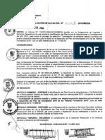 RESOLUCION DE ALCALDIA 031-2010/MDSA