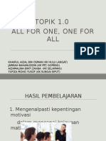 Topik 1 All for One, One for All (Latest) Aizal)
