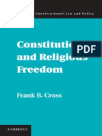 2015. Frank B. Cross-Constitutions and Religious Freedom-Cambridge University Press.pdf