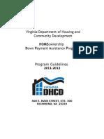 DPA HOMEownership Program Guidelines Application