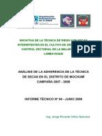 Analisis de La Adherencia de La Tecnica de Secas en Mochumi 2007-2008