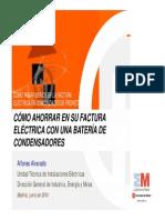 02 Como Ahorrar en Su Factura Electrica Con Una Bateria de Condensadores DGIEM Fenercom 2014