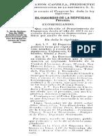 Ley de 1862 Demarcacion Politica Cajamarca