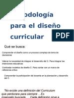 Metodología Diseño Curricular