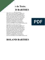 Texto e Prazer. BARTHES; Roland
