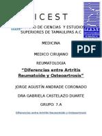 Diferencias Entre Artritis Reumatoide y Osteoartrosis