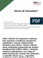 Hills Criteria of Causation_zia