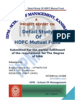 31397800 Detail Study of HDFC Mutual Fund