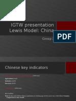 Lewis Model Analysis of China