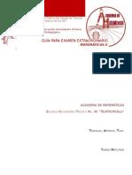 Guía Para Examen Extraordinario Matematicas 2