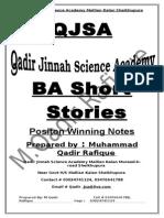 BA , English Short Stories Notes.doc