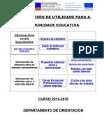 Curso 2015-2016. Información de Utilidade