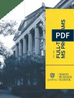 Simon Business School Full-Time-MS Programs