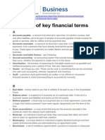 Glossary of Key Financial Terms - Business.gov