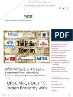UPSC MCQs Quiz 15_ Indian Economy With Answers Download Other Quizzes