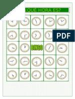 Bingo ¿ Que Hora Es