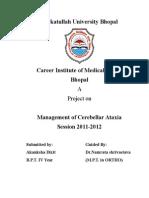 management of cerebellar atexia