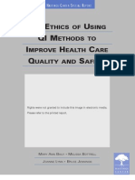 The Ethics of Using QI Methods to Improve Health Care Quality & Safety