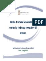 Gender Slide 7 Maggio 2015 Piano Di Azione Straordinario Contro La Violenza Sessuale e Di Genere