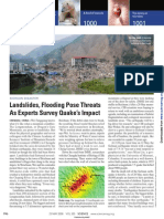 Landslides, Flooding Pose Threats as Experts Survey Quake's Impact