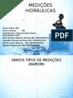Tipos de Medição Hidraulica