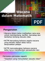 Tujuan Wacana Dalam Matematik