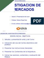 Sesion 00 Investigación de Mercados 2015-2s