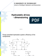 Hydrostatic Drive Dimensioning