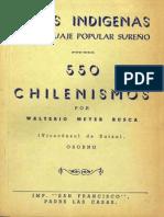 Diccionario de chilenismos sureños, voces indígenas