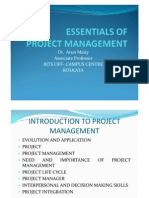 Essentials of Project management lecture