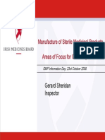 Manufacture of Sterile Medicinal Products - Ger Sheridan