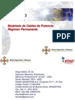 Modelado de Cables de Potencia_Regimen Permanente_ETAP 12