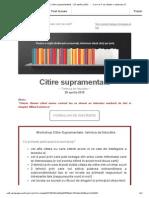 BRAILA- Workshop Citire Supramentala - 25 Aprilie 2015  - Cum Ar Fi Sa Citesti o Carte Pe Zi