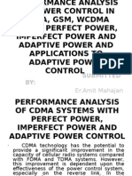 Performance Analysis of Power Control in Cdma,