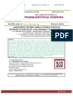 ASSESSMENT OF DRUG-DRUG INTERACTIONS IN DIABETIC PATIENTS IN A SECONDARY CARE HOSPITAL A. A. Mohamed Yasir Arafath*, Jamshed khan, Jesslin joy, Jithin.P.Jeenu