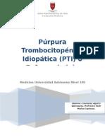 Purpura Trombocitopenica Idiopatica - Constanza Agurto