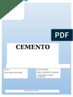 Trabajo Sobre El Cemento - Construccion III