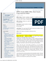 BPDU Guard, BPDU Filter, Root Guard, Loop Guard & UDLD « Eric Leahy