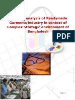 Business Competitive Analysis of RMG Industry_Bangladesh . Sanzida Parvin