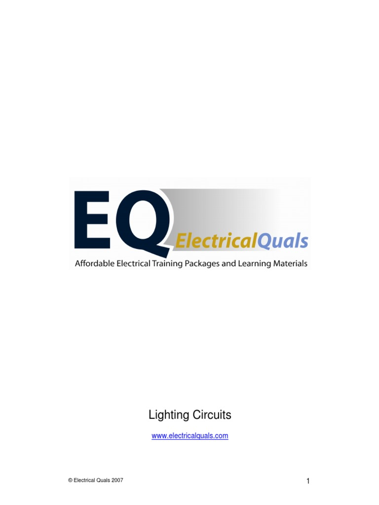 Eq Lighting Circuits Electrical Wiring Switch Powerflex 4 Diagram