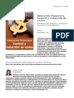 Educacion Financiera Control y Reduccion de Costes