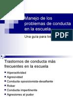 Manejo Conductual - Para Docentes