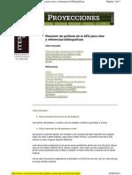 Resumen de Políticas de La APA Para Citas y Referencias Bibliográficas ITESM
