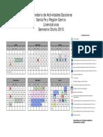 Calendarios de Actividades