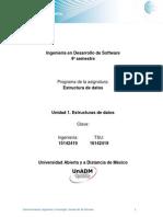 Unidad 1. Estructuras de Datos