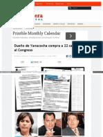 Www Diariolaprimeraperu Com Online Politica Dueno de Yanacoc