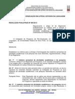 Resolução 006-2013 - Regulamenta a Entrega de Relat Órios Semestrais de Atividades Acadêmicas e de Pesqui Sa Dos Mestrandos