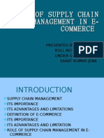 Role of Supply Chain Management in E-commerce